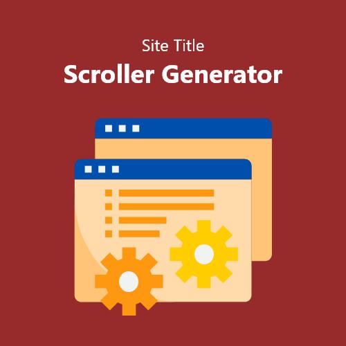 Site Title Scroller Generator
