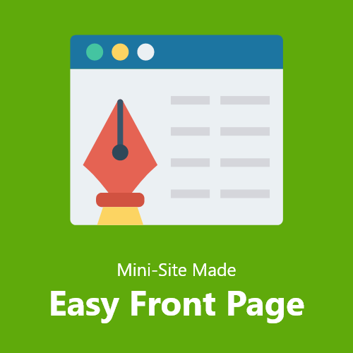 Mini-Site Made Easy Front Page